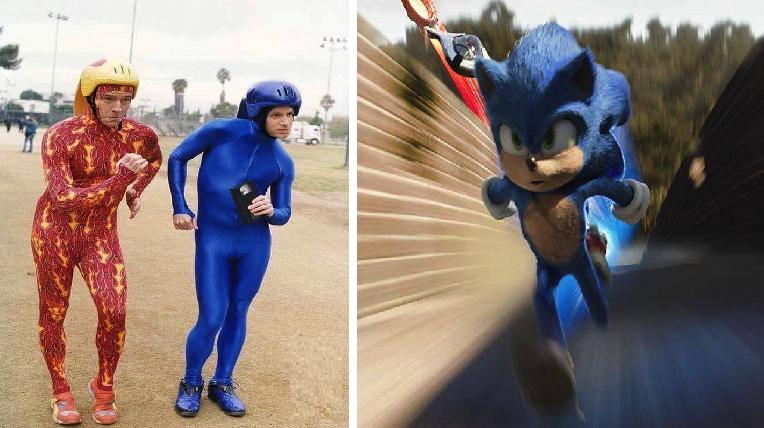 Se filtran primeras imágenes secretas de la película de Sonic y ya la queremos ver