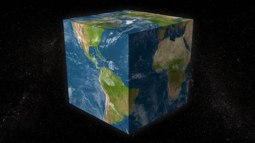 Ni terraplanistas ni terraglobistas, la Tierra es cuadrada, estudio