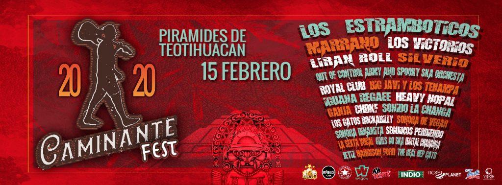 Cartel del concierto en Teotihuacán