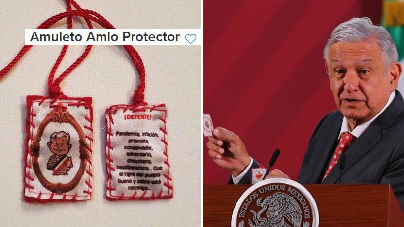 Ya puedes comprar tu amuleto de AMLO para que el Coronavirus te haga los mandados