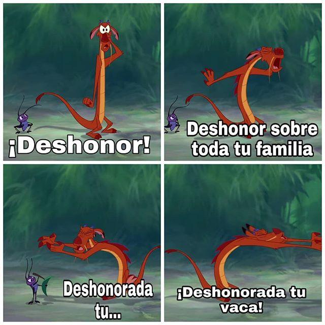 Mulan Deshonor Mushu