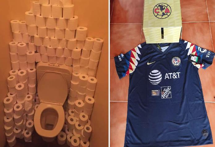 Ante escasez de papel del baño, Club América rebajará sus camisas oficiales