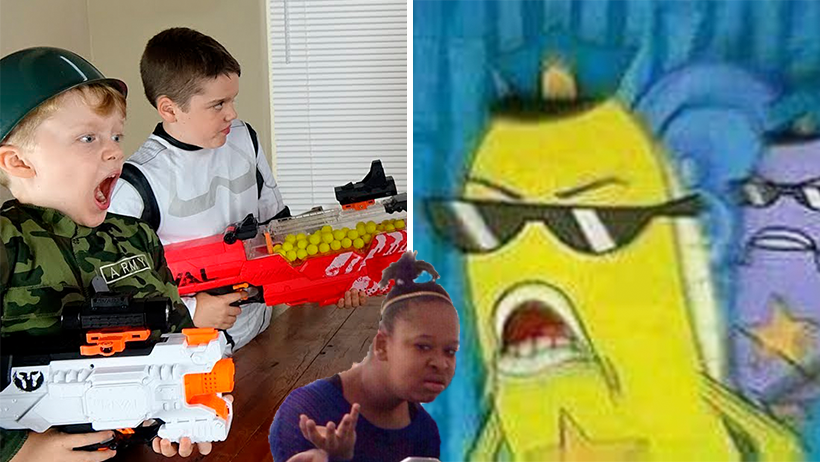 Cover Niño arrestado pistola nerf