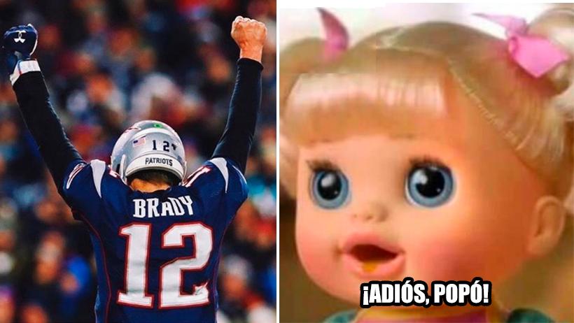Cover Tom Brady Patriots retirada
