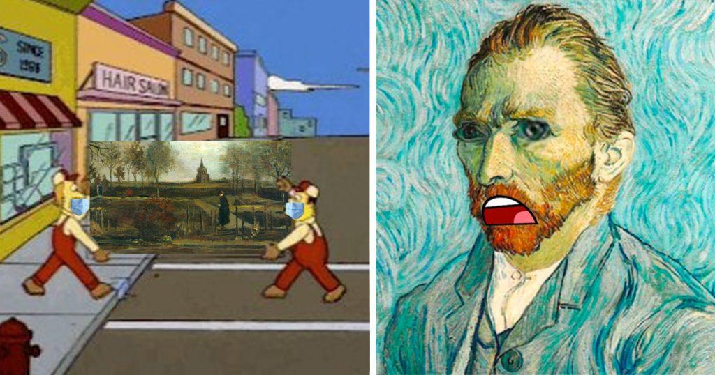 Típico que eres Van Gogh, es tu cumpleaños y se roban tu cuadro, pero te vale porque estás muerto