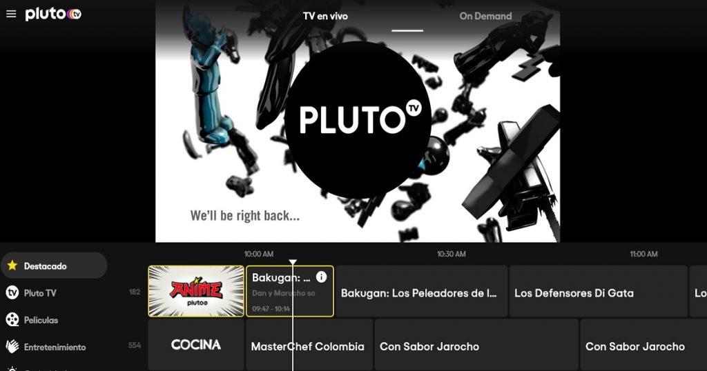 Pluto TV el nuevo servicio de streaming en México