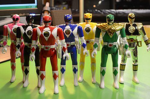 power rangers juguetes 90s
