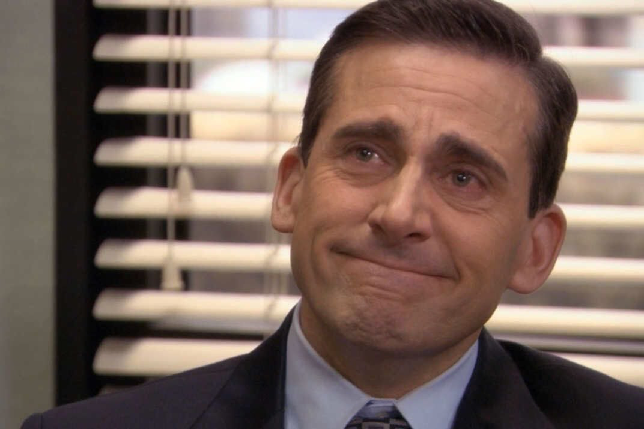 michael scott happy crying