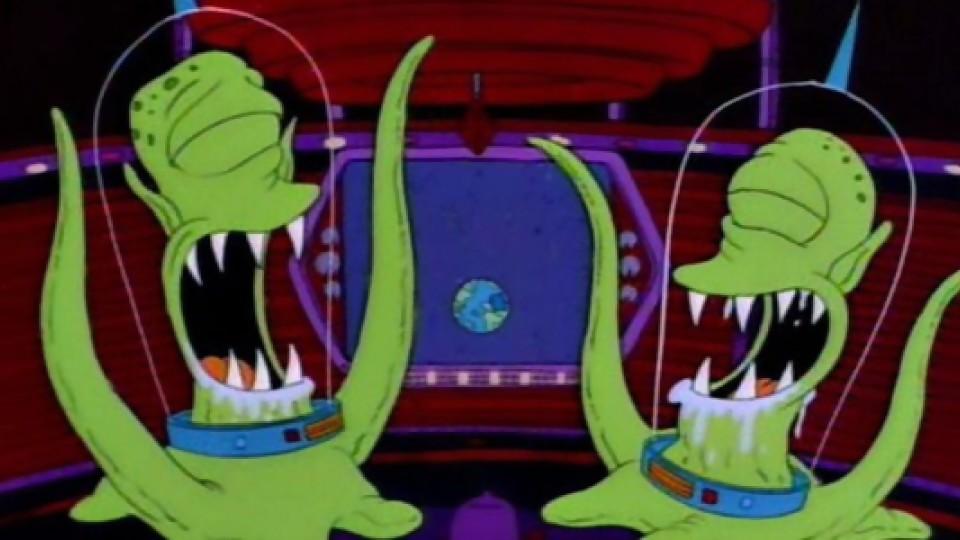 aliens los simpson