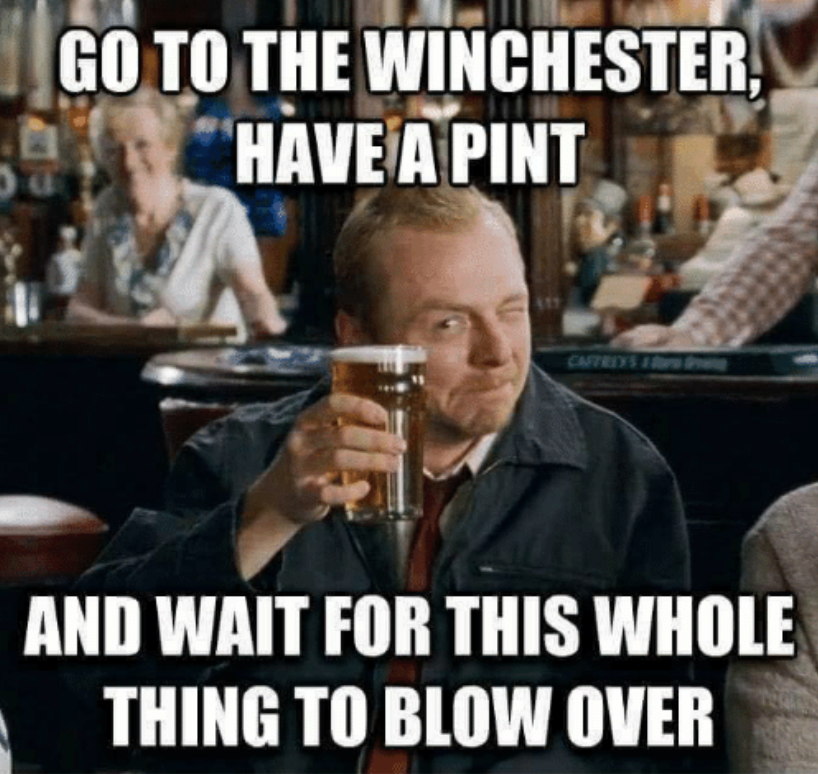 shaun of the dead go to the winchester