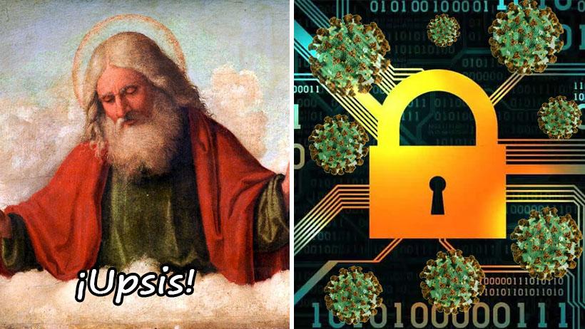 Dios se disculpa y confiesa que olvidó pagar la renovación del antivirus