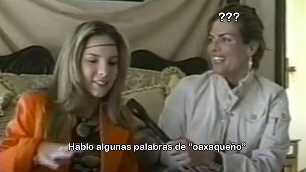 """Como olvidar el día que Belinda confesó hablar """"oaxaqueño"""" en una entrevista"""