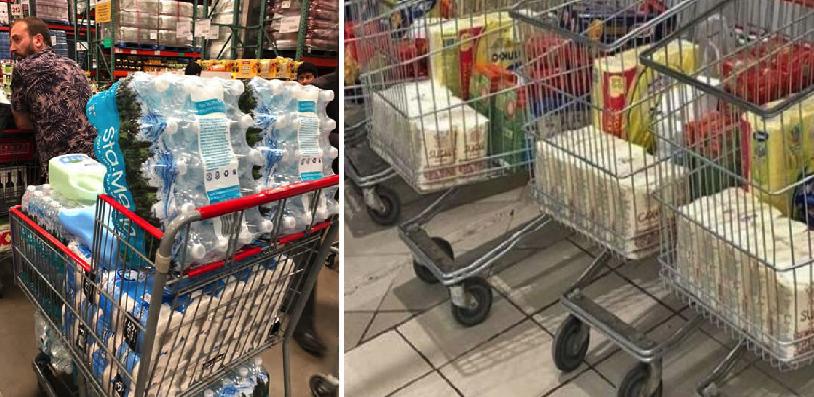Para evitar compras de pánico y tías histéricas, supermercados crean medida novedosa