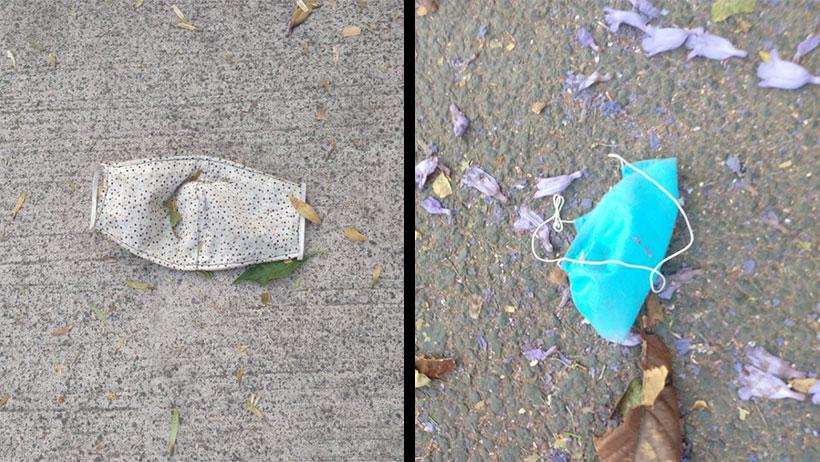 Persona responsable por usar cubrebocas, lo tira en la calle porque México