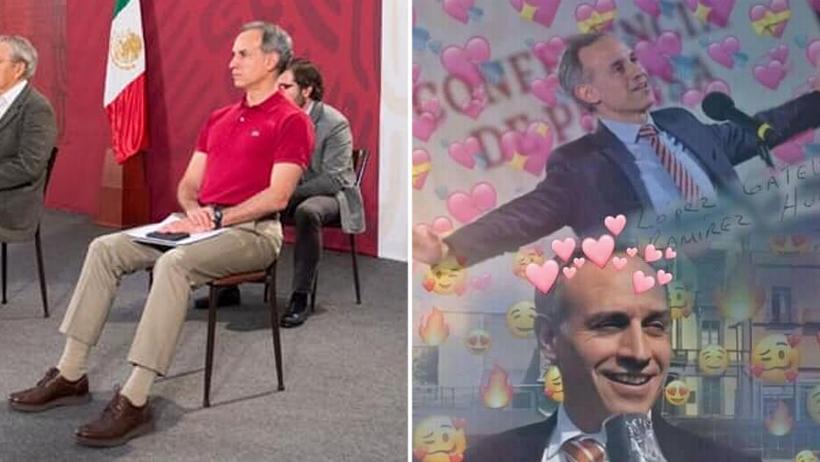 Cobertura Especial: Hugo López Gatell vistió atuendo rojo muy de sábado