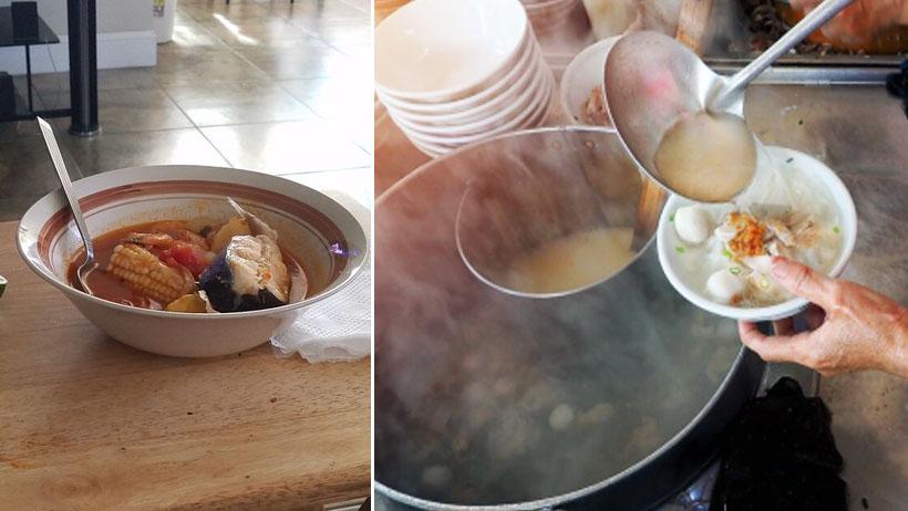 Por altas temperaturas, mamás se preparan para cocinar un caldo bien caliente