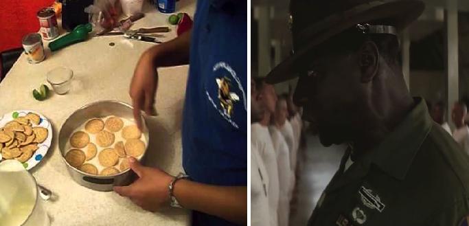 Persona única y original se pone a hacer pay de limón con galletas durante la cuarentena