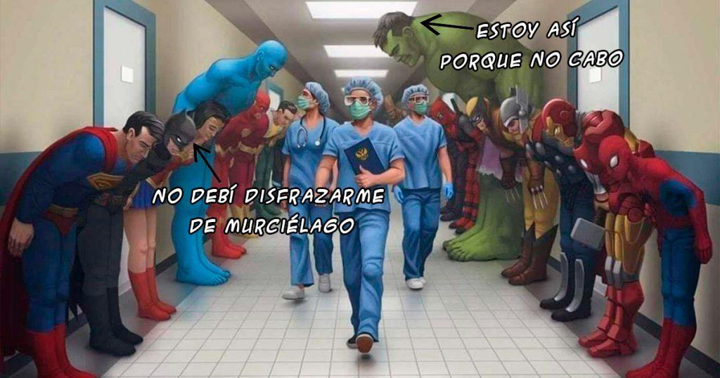 Superhéroes personal médico meme médicos