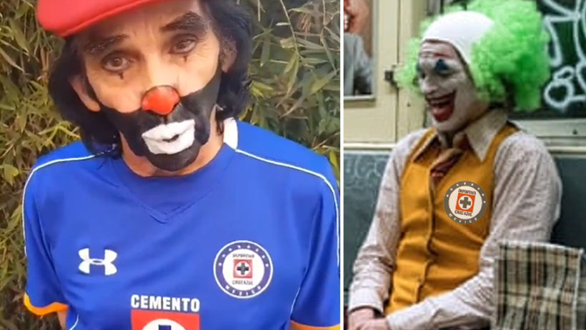 Cepillín se puso su playera del Cruz Azul y ya se quejó por cancelación de la Liga Mx