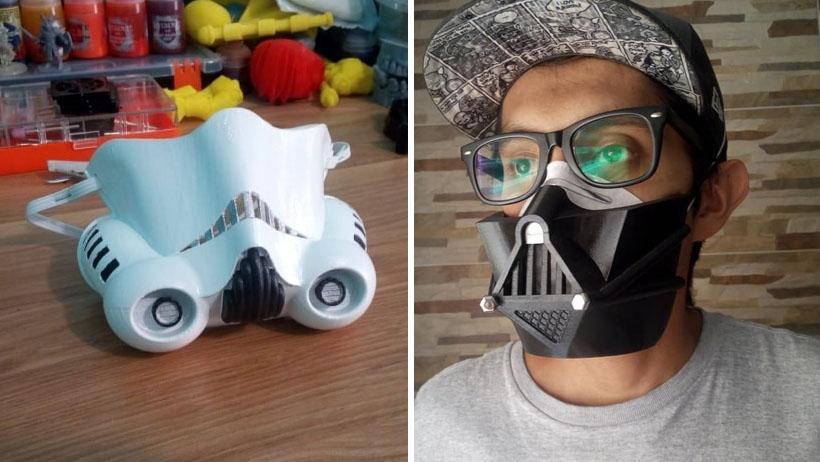 Toma todo mi dinero: genio mexicano diseña cubrebocas de Star Wars