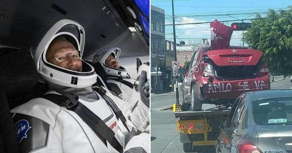 Astronautas SpaceX Marcha coches antiamlo