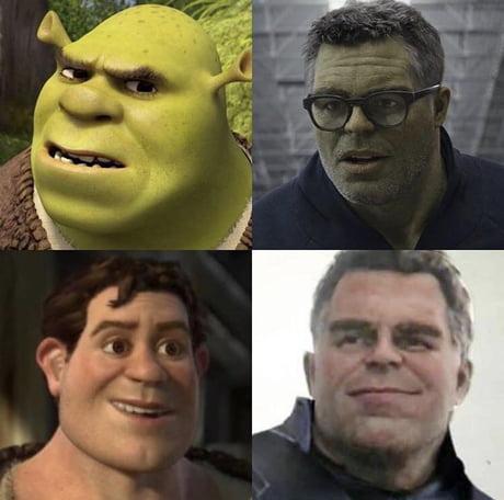 shrek multiverse hulk meme