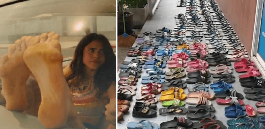 Hombre es arrestado luego de robar más de 100 pares de chanclas de sus vecinos