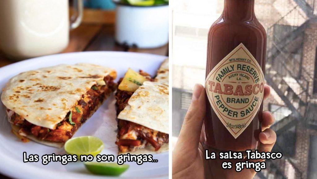 Comidas mexicanas engañosas