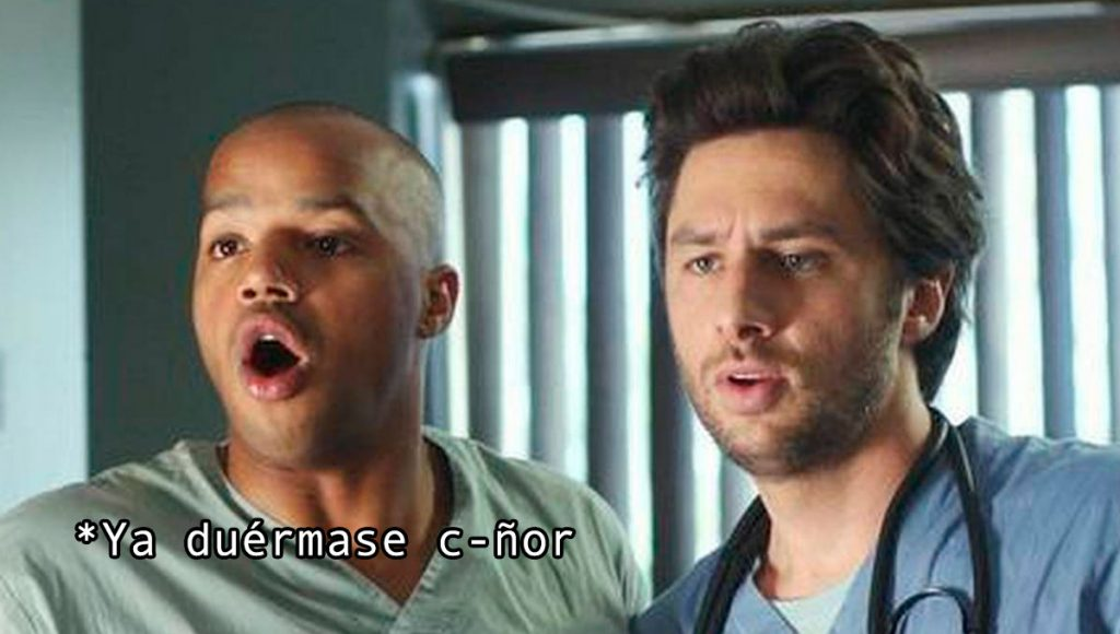 doctores scrubs duermanse