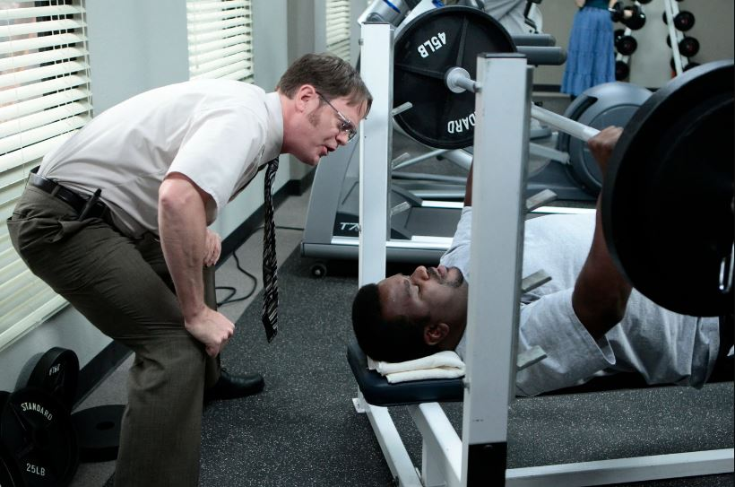 dwight schrute gym for muscles the office