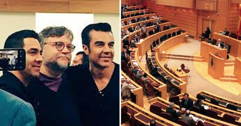 Guillermo del Toro, Adrián Uribe y Omar Chaparro