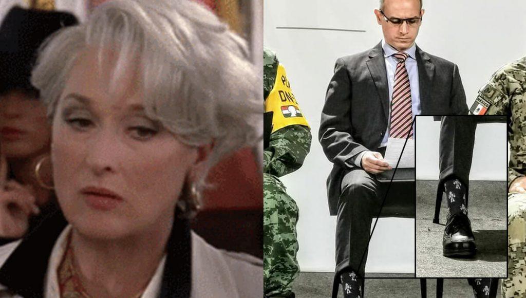 Miranda Priestly afirma que las calcetas de Hugo López Gatell no la impresionan