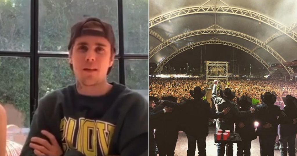 Justin Bieber Intocable fan live Instagram crossovers