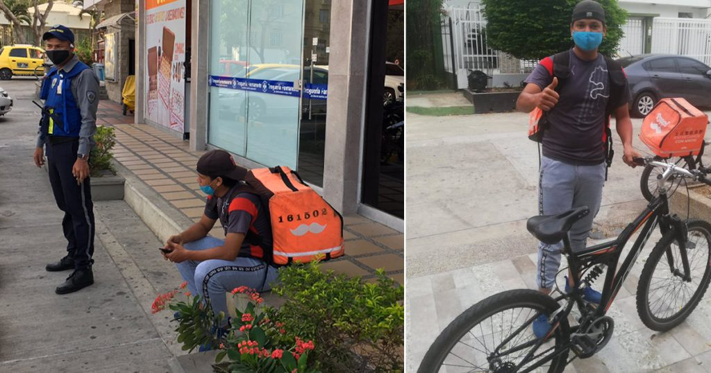 bicicleta se la roban repartidor rappi le regalan una