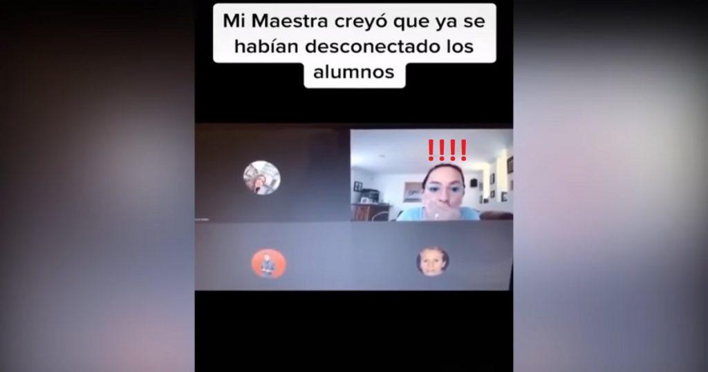 VIDEO: Maestra insulta a alumnos por accidente; nadie le avisó que la cámara estaba prendida