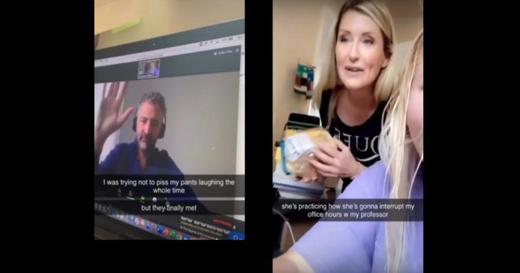 Desesperación nivel: Mamá cae enamorada del maestro de su hija en clase online