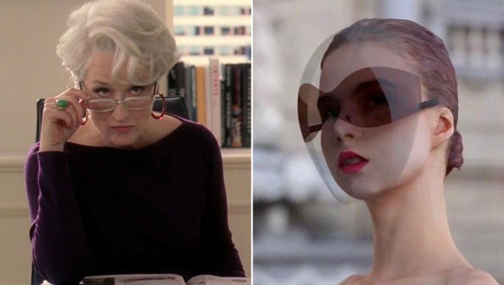 ¿Cómo hacer de la pandemia una moda? Venden mascarillas aprobadas por Miranda Priestly