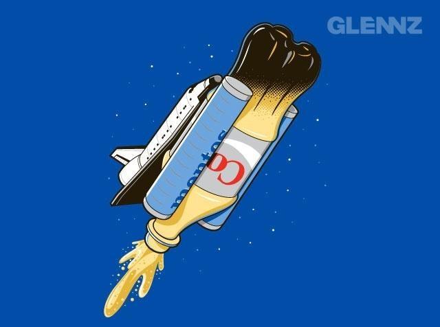 Mentos coke rocket