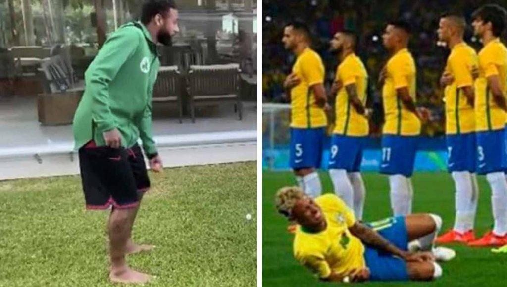 Neymar le hace broma a hijo