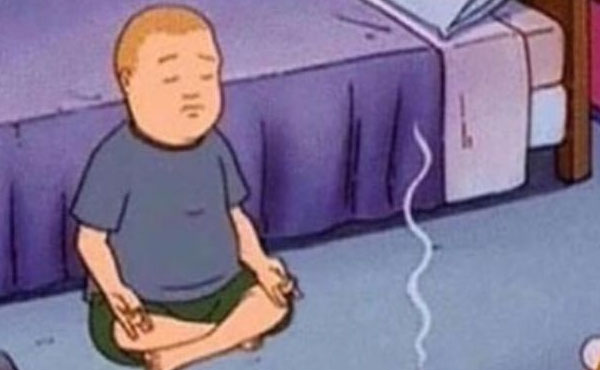 meditating king of the hill