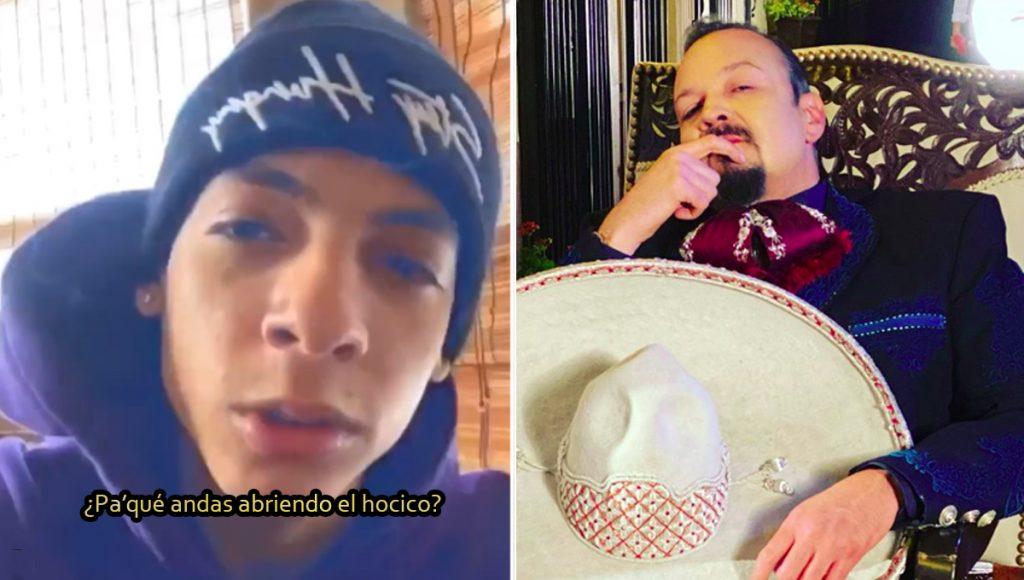 """Natanael Cano (¿quién?) se le fue a la yugular a Pepe Aguilar diciéndole """"animal"""""""