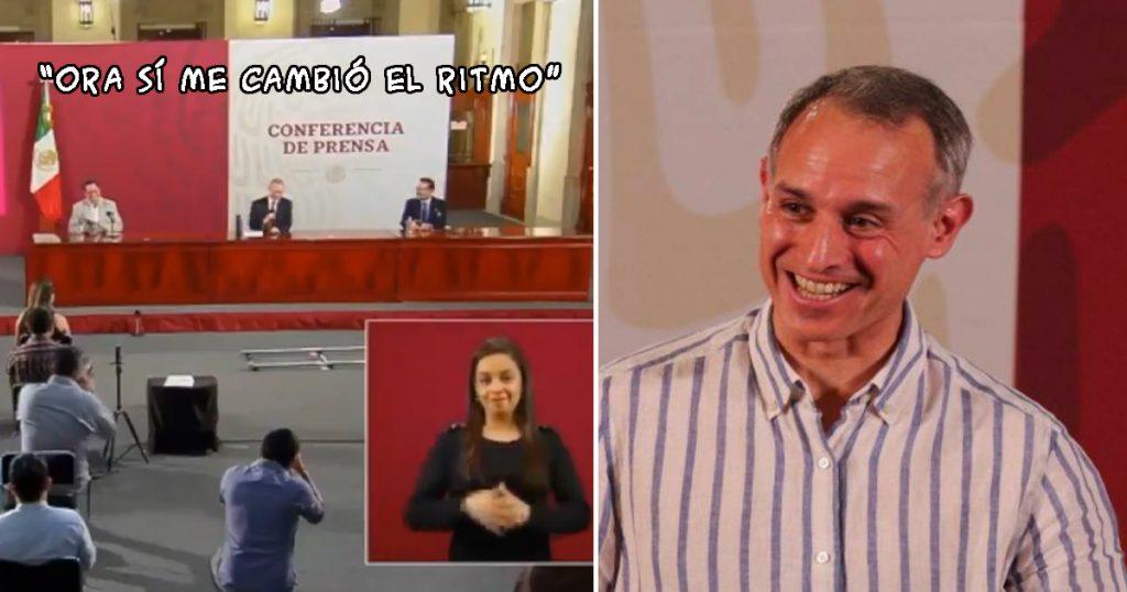 López-Gatell piropo ¿por que tan guapo? reportera conferencia