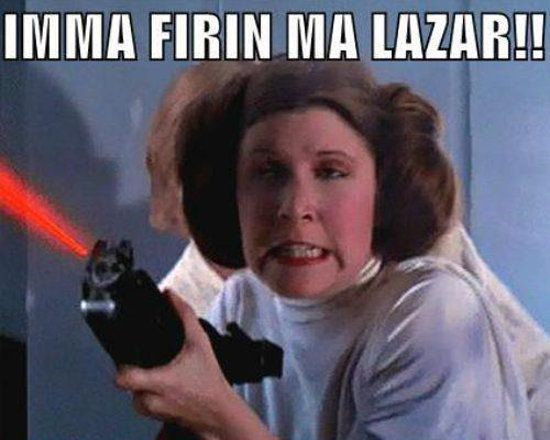 Princess Leia Imma firin ma lazar meme
