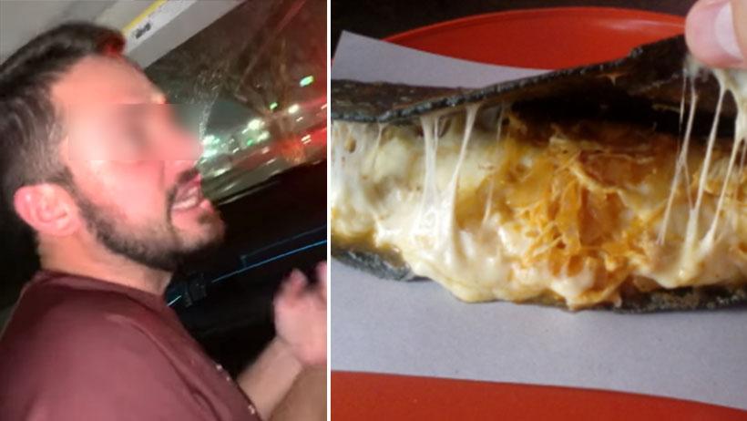 Bello momento en el que un extranjero se indigna por las quesadillas sin queso