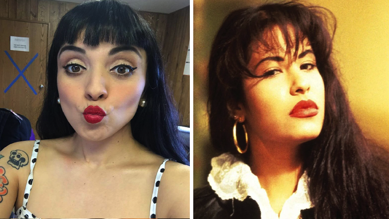 """¿Te quieres sentir """"como la flor""""? Así se veía Mon Laferte de joven… y es igualita a Selena"""