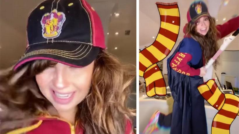 Thalía se nos pasó de piedra filosofal y sacó este TikTok de Harry Potter
