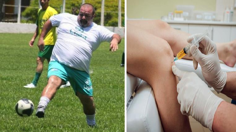 Tíos reciben transfusión de líquido de las rodillas para convertirse en futbolistas profesionales