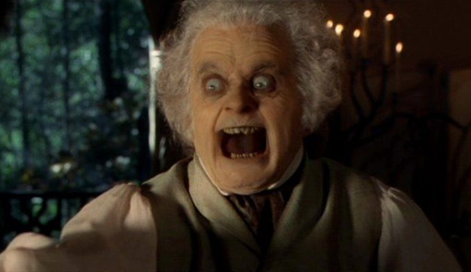 Bilbo angry lord of the rings sir ian holm