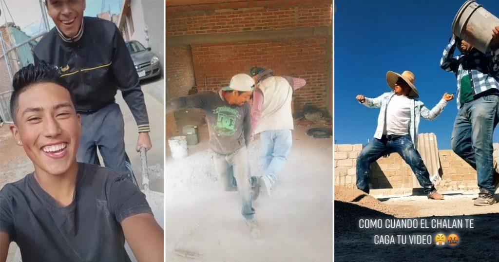Albañiles TikTok videos virales