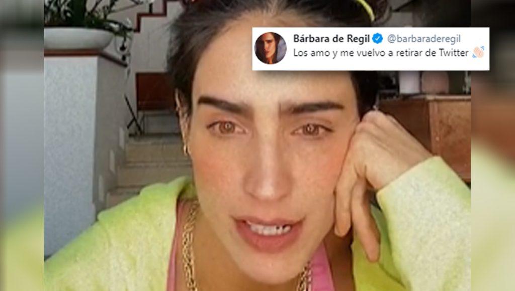 Lo lograron: Bárbara de Regil pintó su raya con Twitter y se retira de la red social